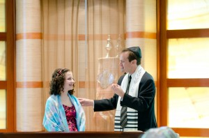 Blessing a recent Bat Mitzah. A favorite part of what I do.