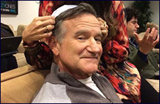 "Robin Williams tweeted this picture of himself last year and said ""Rabbi Robin?"""